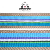 MARTINGALE DOG COLLAR - CLASSIC STRIPES BLUE PURPLE TEAL